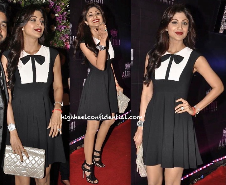 shilpa shetty at sridevi birthday bash in ted baker dress-1