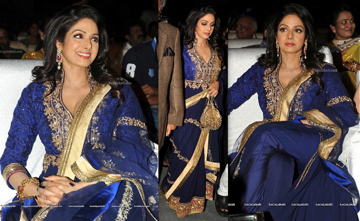 sridevi at tollywood channel launch in manish malhotra