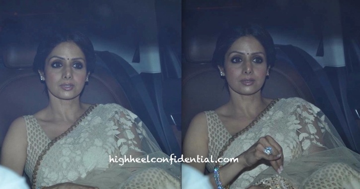 sridevi in sabyasachi at shah rukh khan eid party-1