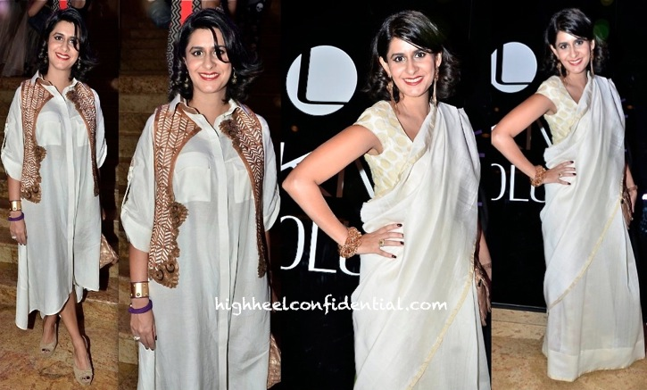 sujata assomull in nupur kanoi at lakme fashion week winter festive 2013