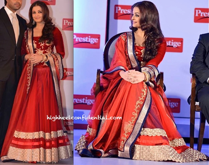 Aishwarya Rai Bachchan In Jade by Monica and Karishma At TTK Prestige Event-2