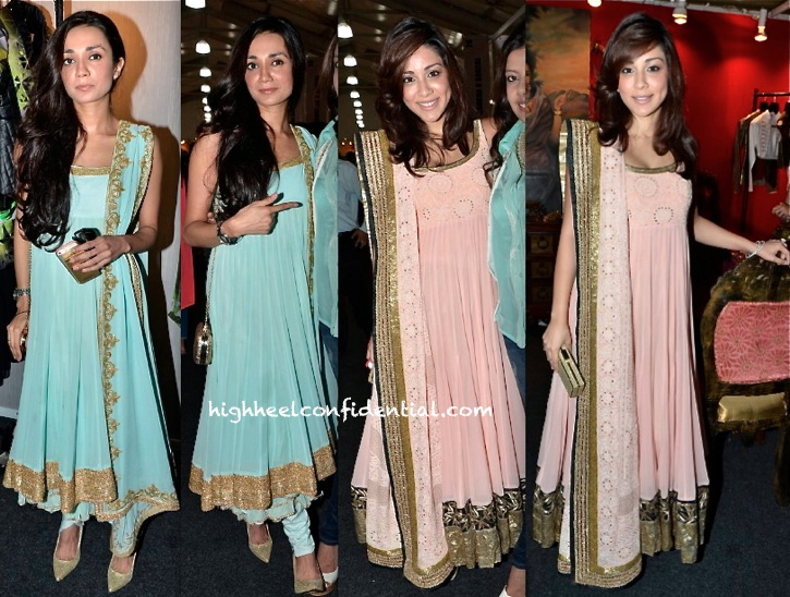 Amrita Puri And Ira Dubey In Ritika Mirchandani At lfw a:w 2013
