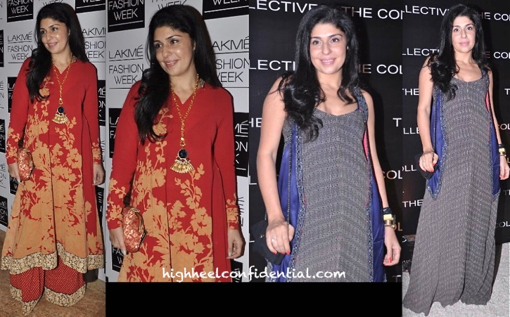Anaita Shroff Adajania At Lakme Fashion Week In Sabyasachi And At The Collective In Anushka Khanna