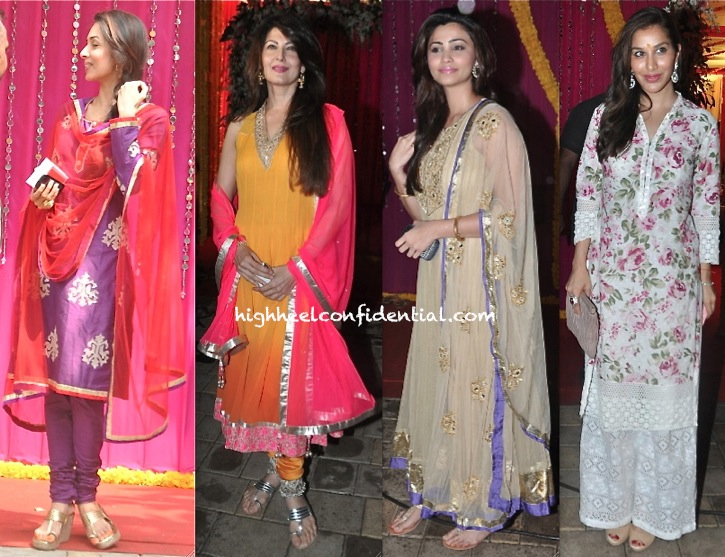 Daisy Shah, Sophie Choudry, Sangeeta Bijlani And Malaika Arora Khan At Ganesh Chaturthi Celebrations-1