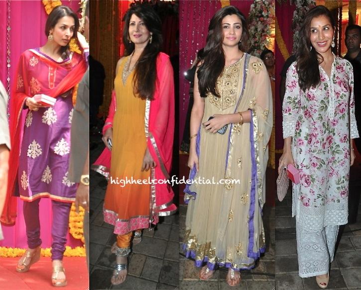 Daisy Shah, Sophie Choudry, Sangeeta Bijlani And Malaika Arora Khan At Ganesh Chaturthi Celebrations-2