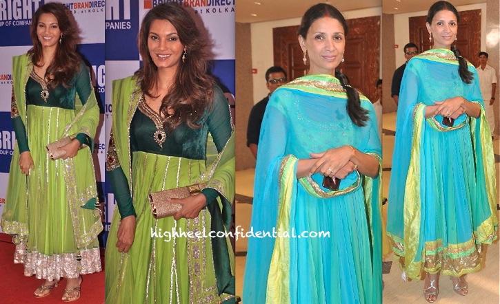 Diana Hayden At Yogesh Lakhani's Birthday Do And Mehr Jessia Rampal At Rahul Thackeray's Engagement