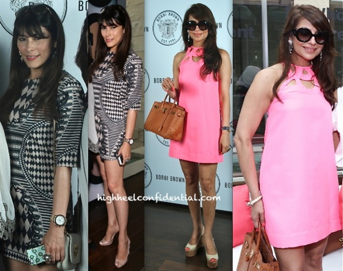Feroze Gujral In Balmain And Tanisha Mohan In DvF At The Bobbi Brown Luncheon In Delhi