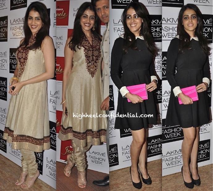 Genelia D Souza In Anhad By Ishita Singh And Ritu Kumar At Lakme Fashion Week 2013
