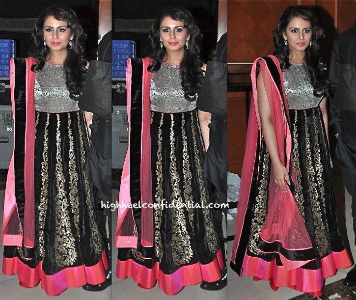 Huma Qureshi In Jade At Jagran Film Festival Closing Ceremony