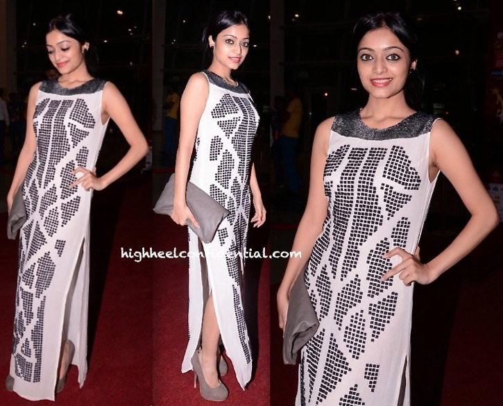 Janani Iyer In Rohit Gandhi and Rahul Khanna On day Two Of SIIMA 2013
