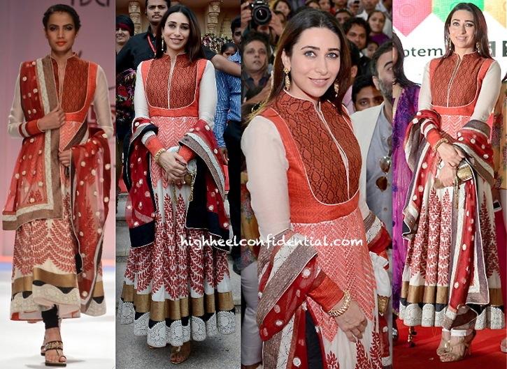 Karisma Kapoor Wears Ekru To Vibrant Vivah Event In Ahmedabad-1