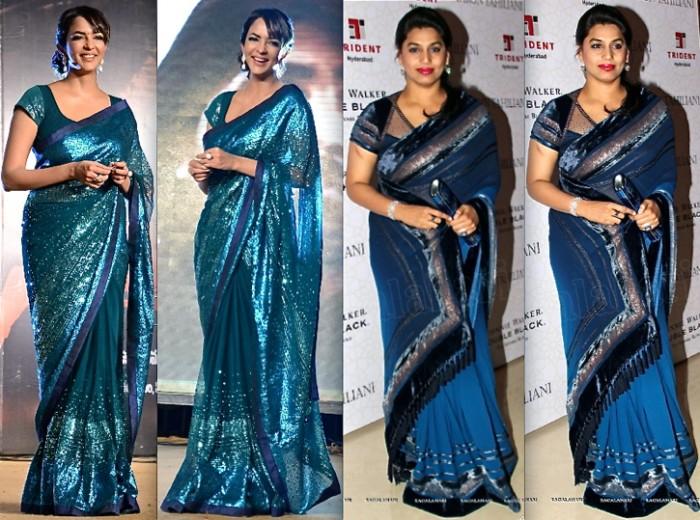 Lakshmi Manchu In Satya Paul At Satya 2 Music Launch And Pinky Reddy In Tarun Tahiliani At The Designer's Presentation