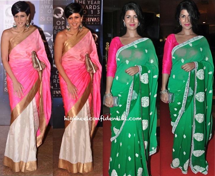 Mandira Bedi At GQ Men Of The Year Awards 2013 And Nimrat Kaur At Jagran Awards-1