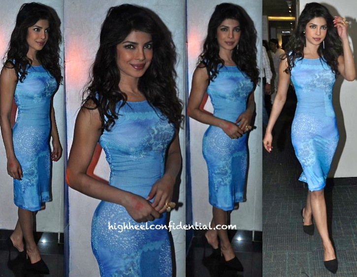 Priyanka Chopra In Arpan Vohra On Indian Idol Junior Sets-1
