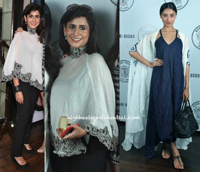 Sujata Assomull And Pernia Qureshi At The Bobbi Brown Luncheon Delhi-anamika khanna