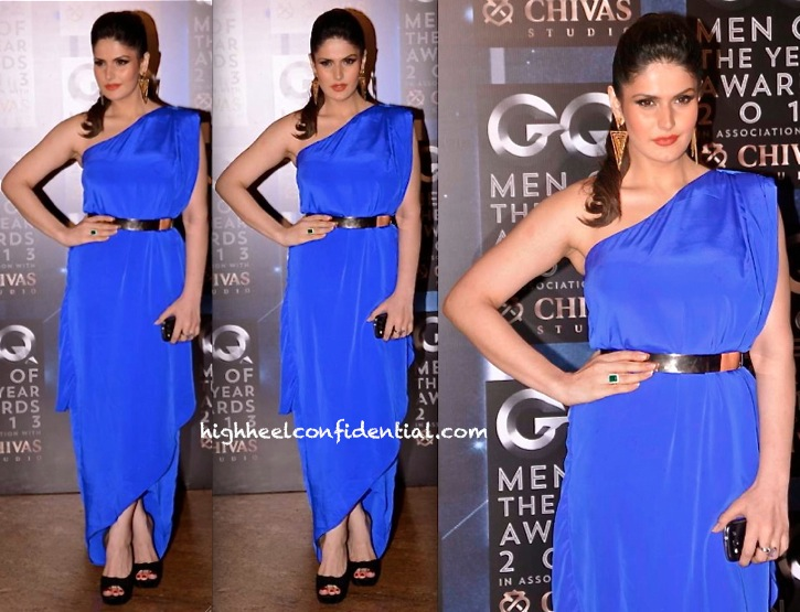 Zareen Khan In Twenty Seven By Mitali Wadhwa At GQ Men Of The Year Awards 2013