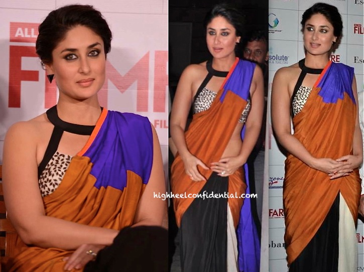 kareena kapoor launches filmfare sept 2013 issue in soup by sougat paul sari-3