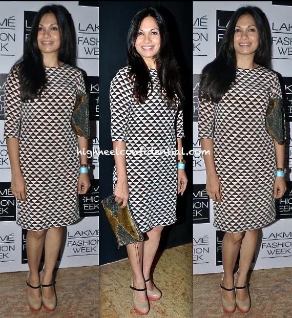 maria goretti in payal singhal at lakme fashion week winter festive 2013