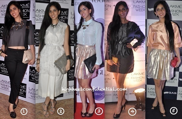 nishka lulla at lakme fashion week 2013 wearing her own