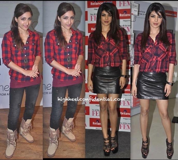 priyanka chopra at femina cover launch and soha ali khan at classmates event-1