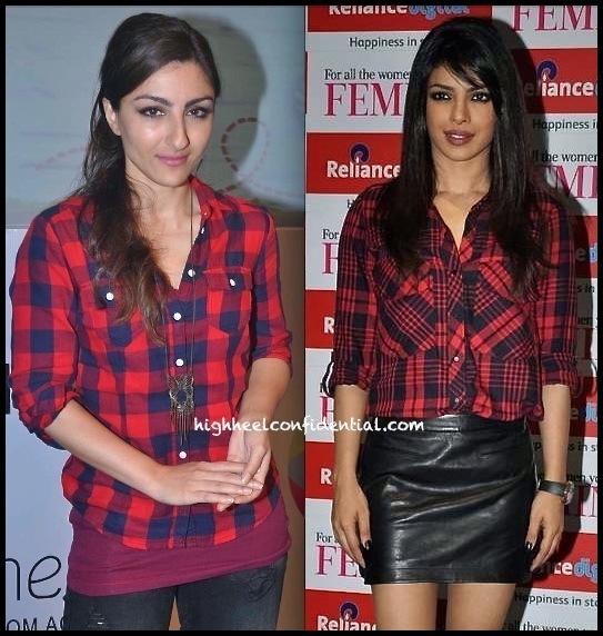 priyanka chopra at femina cover launch and soha ali khan at classmates event-2