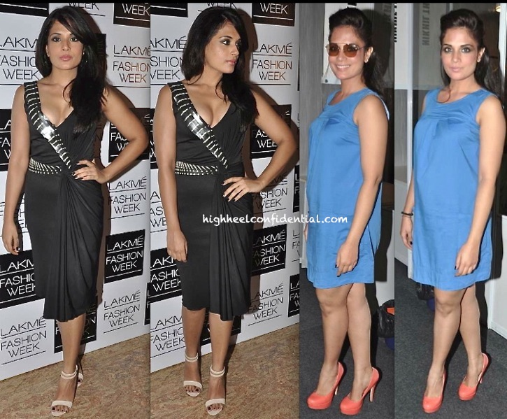 richa chadda at lakme fashion week 2013 in amit aggarwal