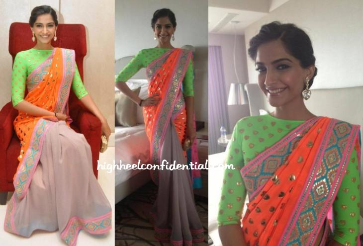 sonam-kapoor-manish-arora-filmfare-launch-delhi-sari-1