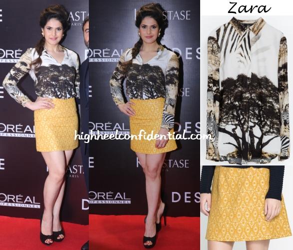 zareen-khan-zara-dessange-launch