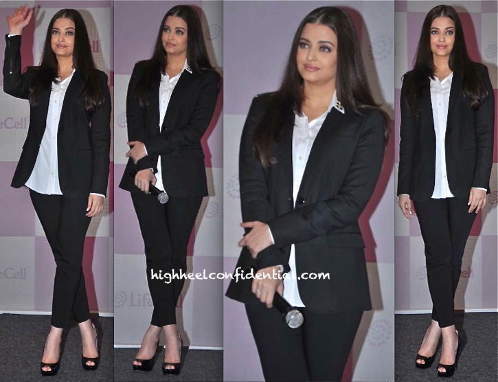 Aishwarya Rai Bachchan In Burberry At Life Cell Event-1
