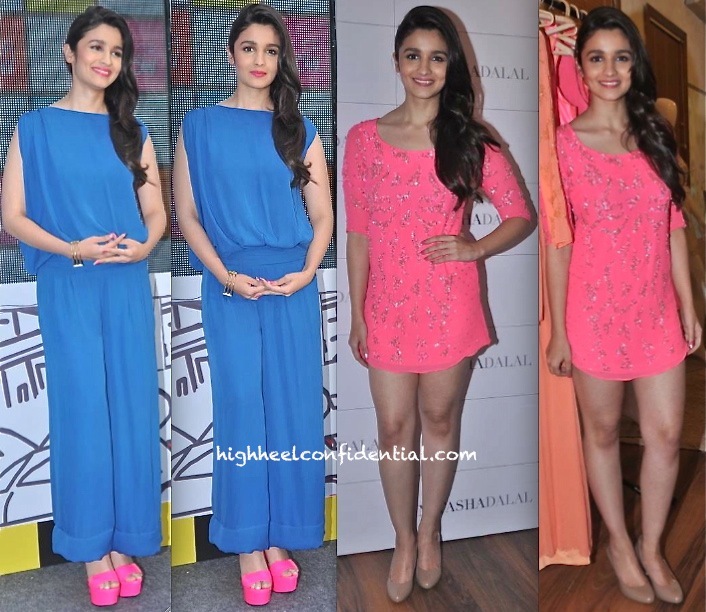 Alia Bhatt In Natasha Dalal At The Designer's Label Launch And At Maybelline Event In Gauri And Nainika-1