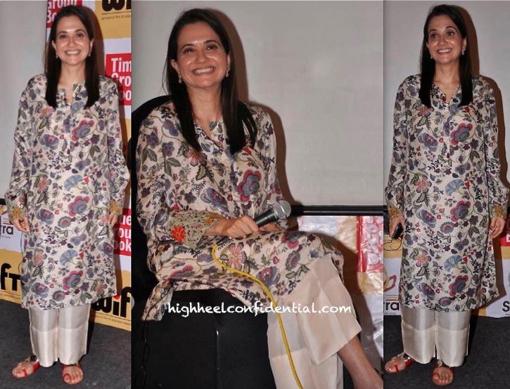 Anupama Chopra In Anamika Khanna At A WIFT Event:Book Discussion