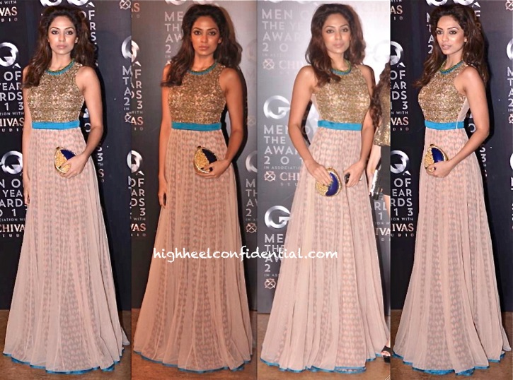 GQ Men Of The Year Awards 2013-Sobhita Dhulipala In SVA By Sonam and Paras Modi