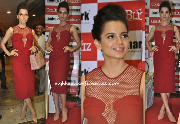 Kangna Ranaut In Burberry At Cineblitz Cover:Issue Launch-1