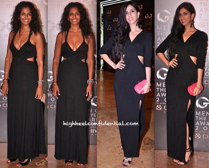 Sheetal Mallar And Nishka Lulla In ASOS At GQ Men Of The Year Awards 2013