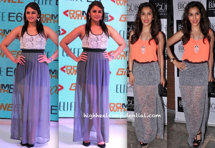 Sophie Choudry At Jeane Claude Biguine Charity Garage Sale And Huma Qureshi At Gionee Smartphone Launch-1