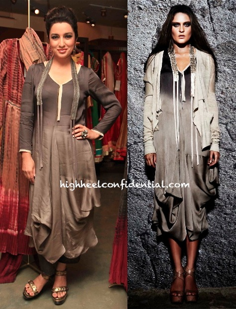 Tisca Chopra In Urvashi Kaur At The Designer's Collection Launch At Ogaan