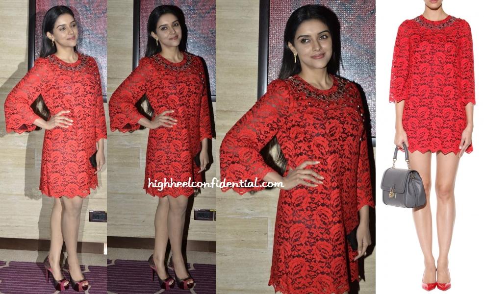Asin Dolce Gabbana Birthday Bash Red Lace Dress