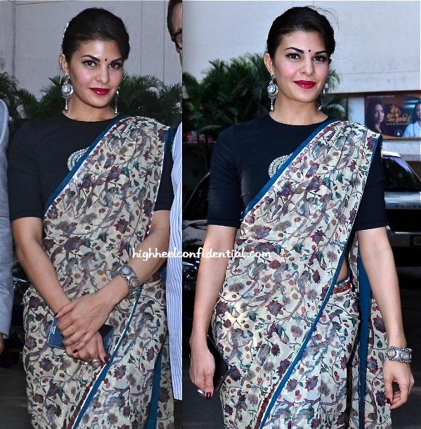 Wear saree like air hostess