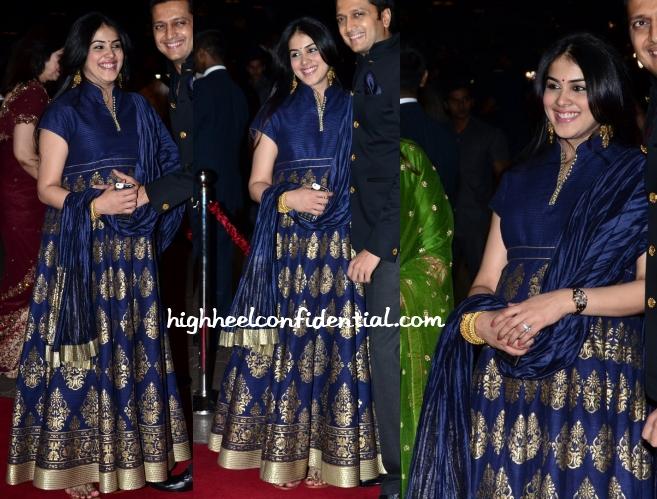 Genelia D Souza Rohit Bal Aayush Arpita Wedding High Heel Confidential