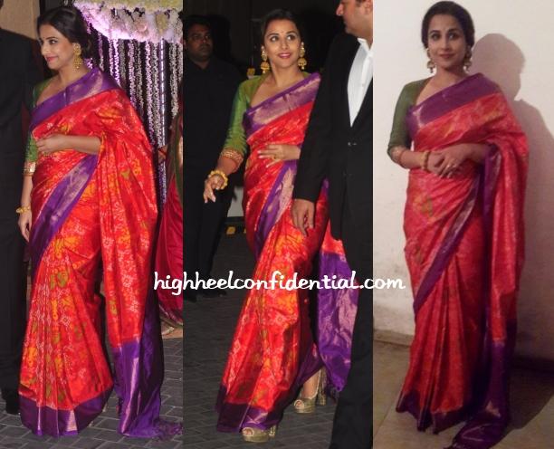 Vidya Balan Gaurang Riddhi Tejas Wedding Reception