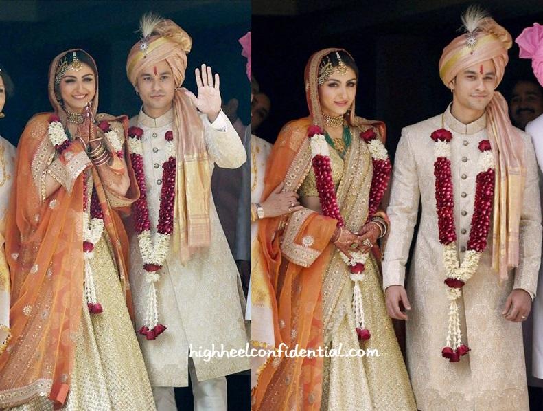 Soha Ali Khan Kunal Khemu Wedding Sabyasachi
