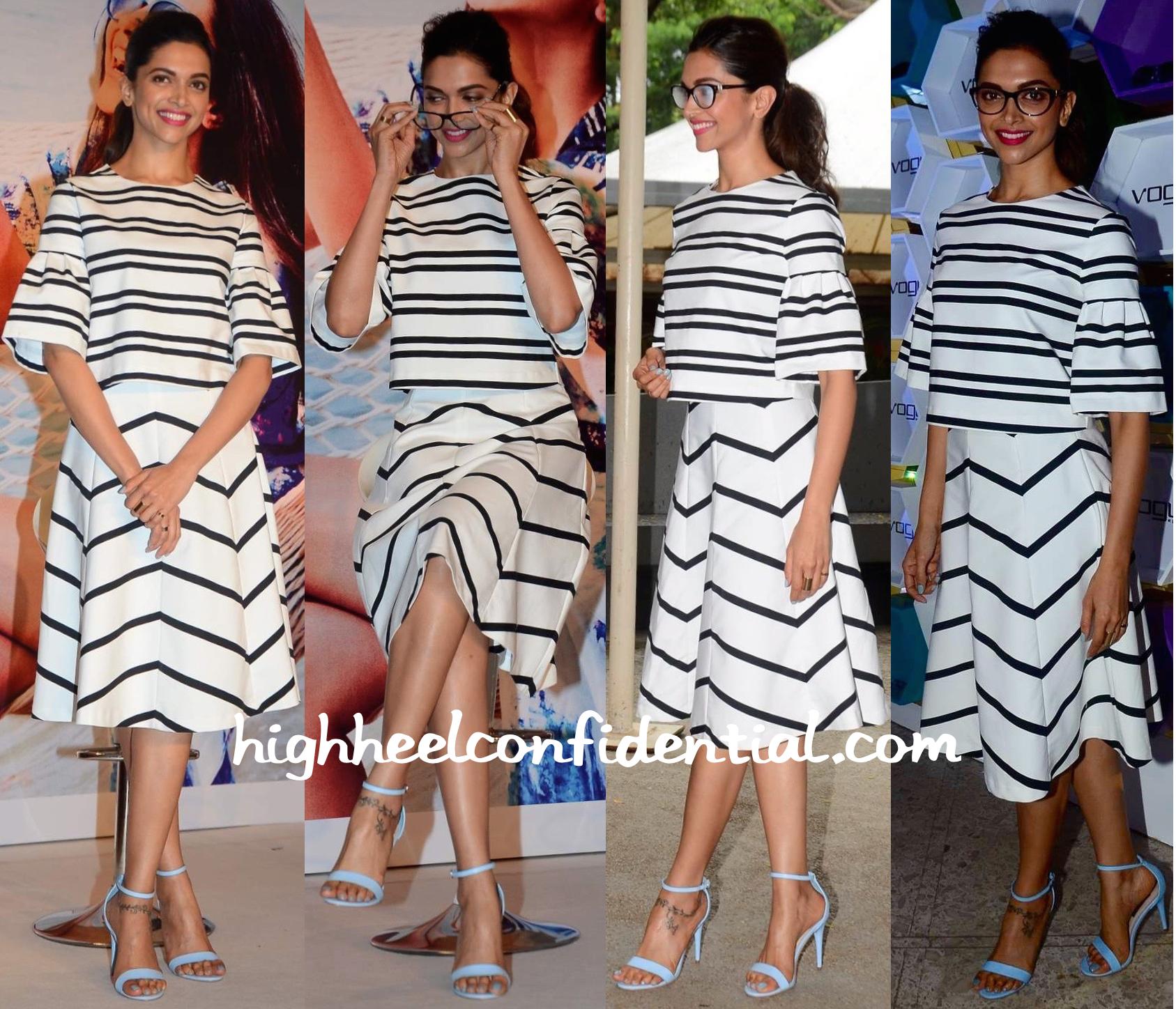 dafb484d8bea Deepika Padukone In Zara At Vogue Eyewear Event-2