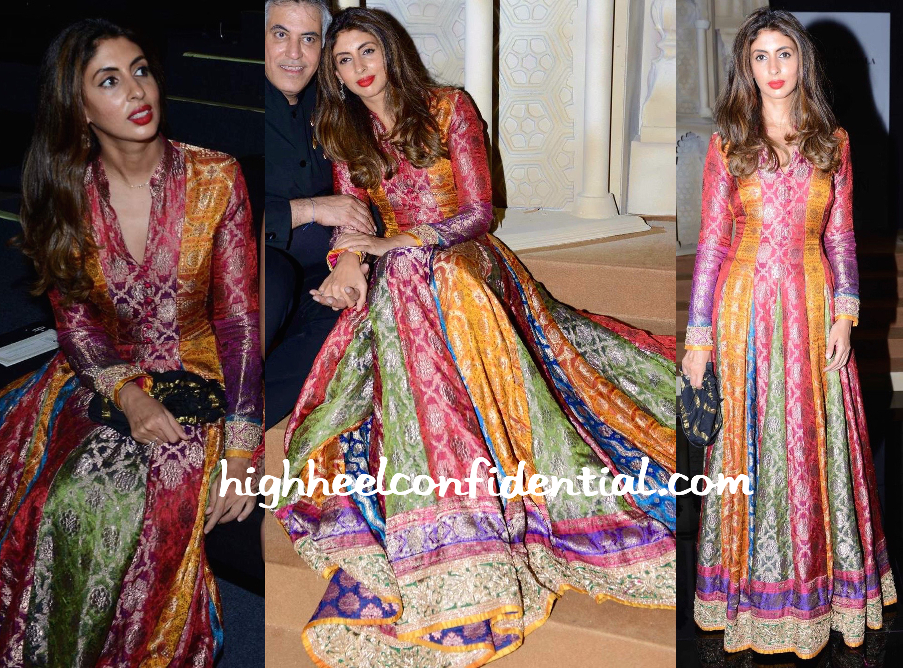 Shweta Bachchan Nanda Wears Abu Jani Sandeep Khosla To The Designer Duo S Show At India Bridal Fashion Week 2015 2 High Heel Confidential