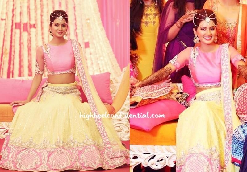Geeta basra wedding dress