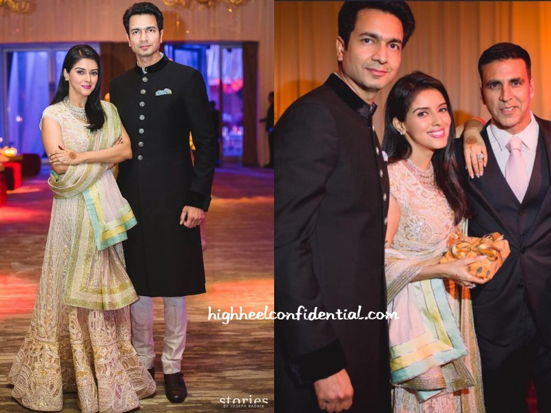 Asin Rahul Sharma Abu Sandeep Wedding Reception
