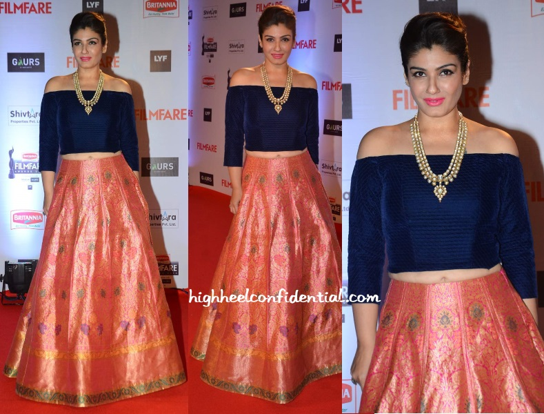 raveena-tandon-manish-malhotra-filmfare-awards-2016 | High Heel