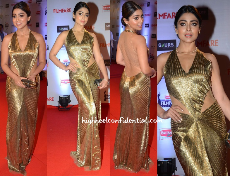 shriya-saran-gaurav-gupta-filmfare-awards-2016 - High Heel