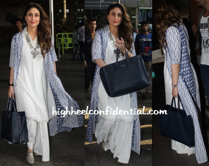 7e2be731eb15 Kareena Kapoor (In Anita Dongre) Photographed At The Airport-1