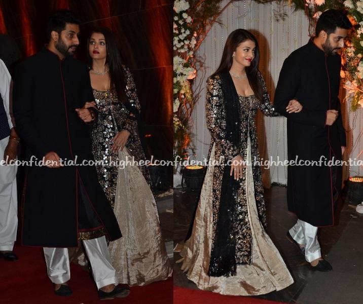 Aishwarya Rai Manish Malhotra Bipasha Wedding Reception High Heel