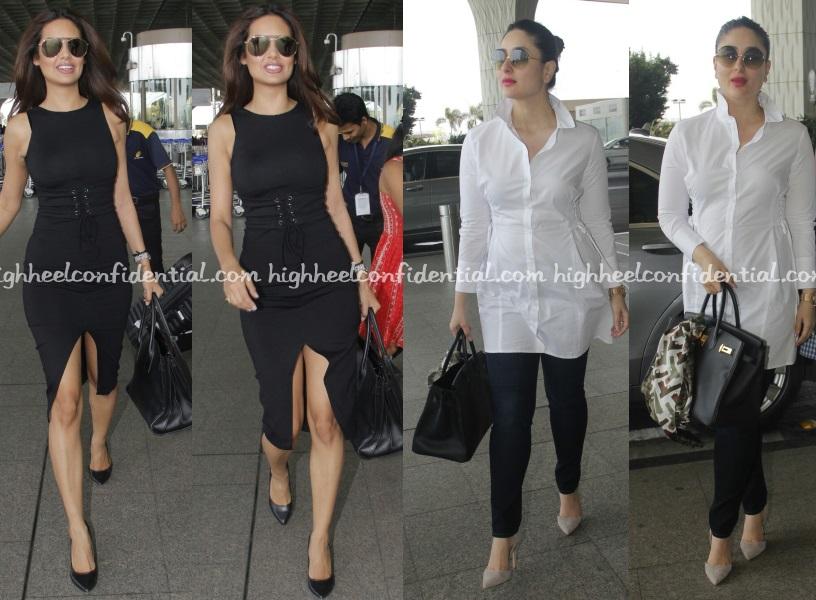 204814ca3e esha-gupta-kareena-kapoor-zara-topshop-mumbai-airport - High Heel ...